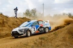 Rally car in motion Stock Photos
