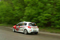 Rally car in motion Stock Photo