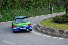 Rally car on race Stock Image