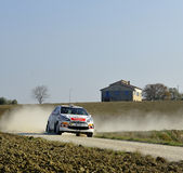 Rally car on race, citroen ds3 Royalty Free Stock Photo