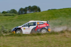 Rally car race in 71st Rally Poland Stock Photo