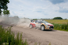 Rally car race in 71st Rally Poland Royalty Free Stock Photos