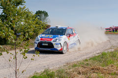 Rally car race in 71st Rally Poland Stock Photography
