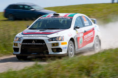 Rally car race in 71st Rally Poland Royalty Free Stock Images