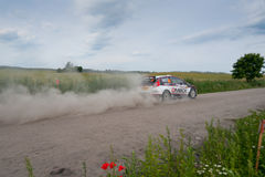 Rally car race in 71st Rally Poland Stock Images