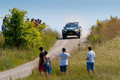 Rally car race in 71st Rally Poland Royalty Free Stock Photo