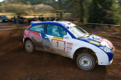 Rally Car Racing Royalty Free Stock Photo