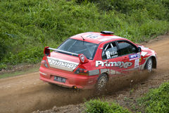Rally car racing Royalty Free Stock Image