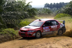 Rally car racing Stock Images
