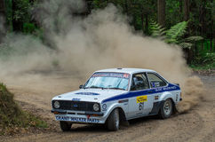 Rally car at Rally Victoria 2014 Royalty Free Stock Photos