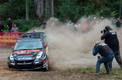 Rally car at Rally Victoria 2014 Royalty Free Stock Images
