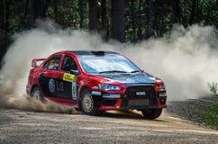 Rally car at Rally Victoria 2014 Stock Photo