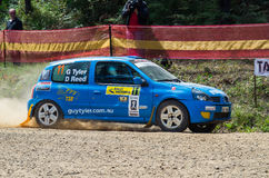 Rally car at Rally Victoria 2014 Stock Photography