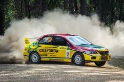 Rally car at Rally Victoria 2014 Stock Photos