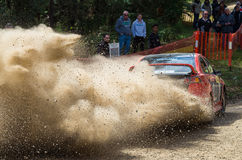 Rally car at Rally Victoria 2014 Royalty Free Stock Photo