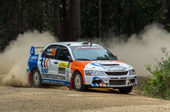 Rally car at Rally Victoria 2014 Royalty Free Stock Photography
