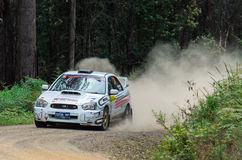 Rally car at Rally Victoria 2014 Royalty Free Stock Image