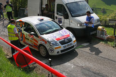 Rally Car at the start Royalty Free Stock Images