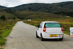 Rally car stating loop Stock Images