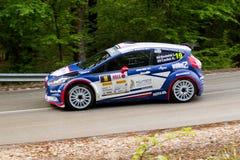 Rally car Szekesfehervar Hungary. 2016 Royalty Free Stock Photos