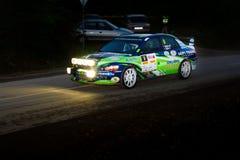 Rally car Szekesfehervar Hungary. 2016 Stock Images