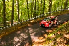 Rally car Szekesfehervar Hungary. 2016 Royalty Free Stock Images