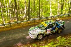 Rally car Szekesfehervar Hungary. 2016 Royalty Free Stock Photo