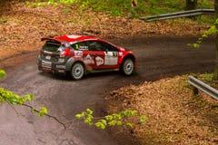 Rally car Szekesfehervar Hungary. 2016 Royalty Free Stock Image