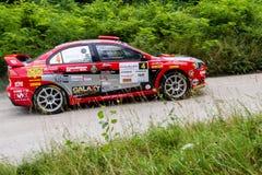 Rally car Szekesfehervar Hungary. 2016 Stock Photography