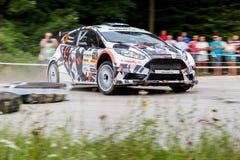 Rally car Szekesfehervar Hungary. 2016 Stock Photo