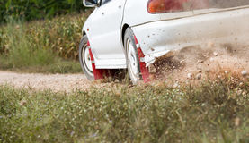 Rally Car in track Royalty Free Stock Image