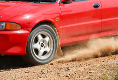 Rally Car in track Royalty Free Stock Photos