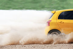 Rally car in track Stock Photo