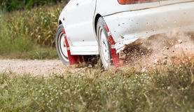 Rally Car in track Stock Photos