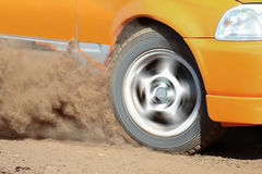 Rally Car in track Royalty Free Stock Photography
