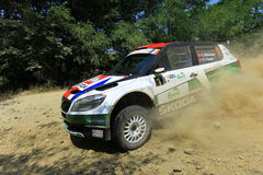 Rally car U turn Royalty Free Stock Image