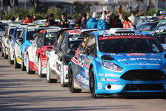 Rally Cars in Monaco - Monte Carlo Rally 2016 Royalty Free Stock Photography