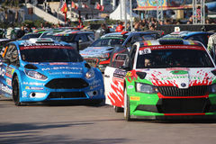 Rally Cars in Monaco - Monte Carlo Rally 2016 Royalty Free Stock Photos