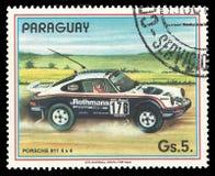 Rally cars, Porsche 911 Stock Photo