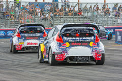 Rally Cars at the Red Bull GRC Global Rallycross Royalty Free Stock Image