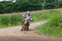 RALLY. CHIANG MAI, THAILAND - OCT 2: Unknown Motorcycle driver piloting his Motocross on the tracks, Oct 2, 2016 in Chiang Mai, Thailand Stock Photos