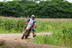 RALLY. CHIANG MAI, THAILAND - OCT 2: Unknown Motorcycle driver piloting his Motocross on the tracks, Oct 2, 2016 in Chiang Mai, Thailand Stock Images
