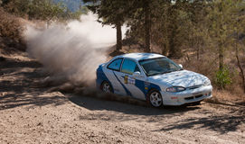 Rally competition in Cyprus Stock Photo