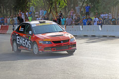 Rally Competition in Cyprus Stock Photography