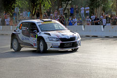 Rally Competition in Cyprus Royalty Free Stock Photography