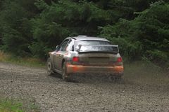 Rally corner Stock Photo