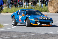 61 Rally Costa Brava. FIA European Historic Sporting Rally Champ. Ionship Stock Image