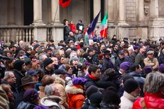 Rally in defence of the Italian Constitution, Mila Royalty Free Stock Image