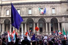 Rally in defence of the Italian Constitution, Mila Stock Photography