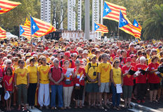 Rally demanding independence for Cataloni Stock Photo